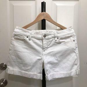 The Limited White Denim Shorts
